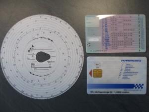 Bild Tachoscheibe, Führerschein, Fahrerkarte